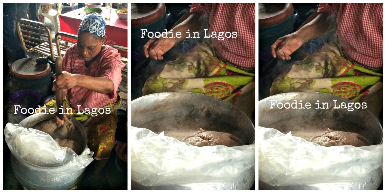 Hot steaming amala